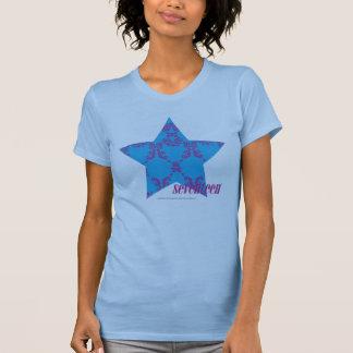 T-shirt Pourpre-Aqua 2 de damassé