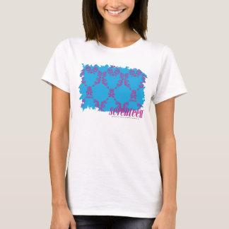 T-shirt Pourpre-Aqua 4 de damassé