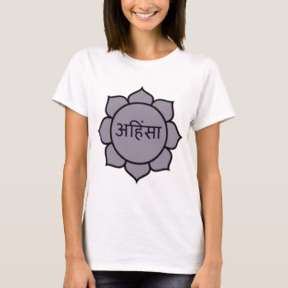 T-shirt Pourpre d'Ahimsa Lotus