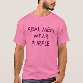 T-shirt pourpre d'hommes