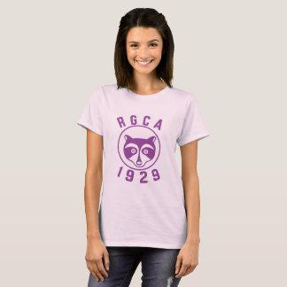 T-shirt pourpre du logo des femmes de RGCA