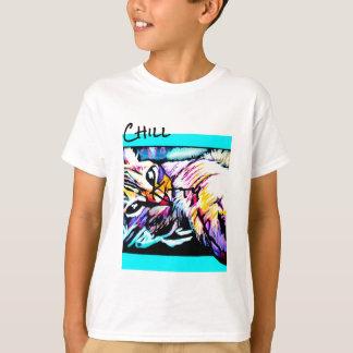 T-shirt pourpre froid de minou