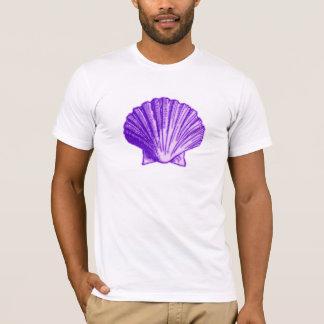 T-shirt Pourpre tropical Shell de clair de lune