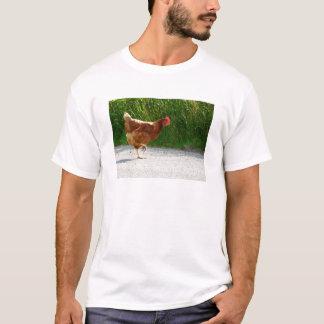 T-shirt Pourquoi le poulet a-t-il traversé la route ?