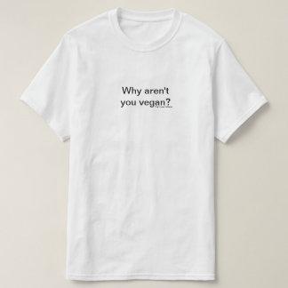 T-shirt Pourquoi n'êtes pas vous vegan.