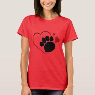 T-shirt Poursuivez l'amour des coeurs I de patte mon