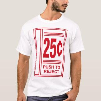 T-shirt poussez pour rejeter le jeu vidéo drôle de jeu