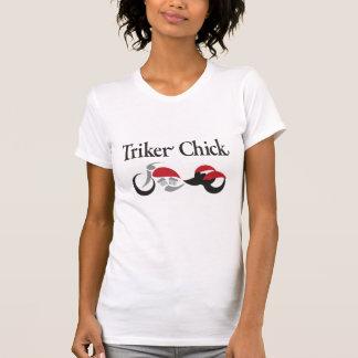 T-shirt Poussin de Triker avec le tricycle rouge de moto