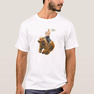 T-shirt Poutine montant un ours