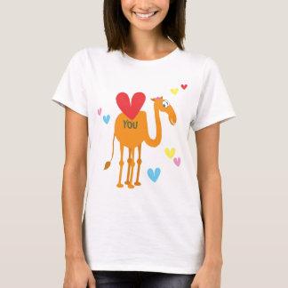 T-shirt Pouvez vous dire je t'aime le chameau et le