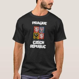 T-shirt Prague, République Tchèque avec le manteau des