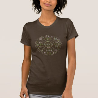 T-shirt pre-Columbian signs in circle