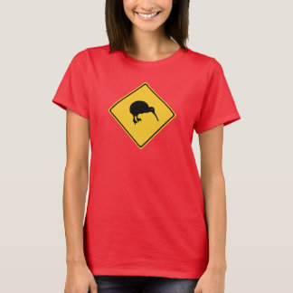 T-shirt Précaution avec des kiwis, poteau de