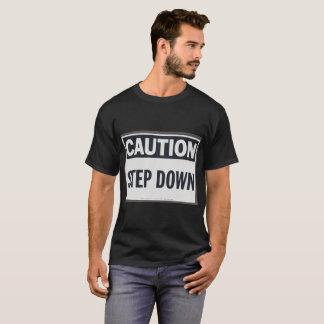 T-shirt Précaution dévoltrice et chemise d'avertissement