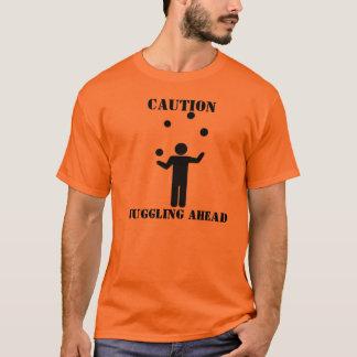 T-shirt Précaution : Jonglerie en avant