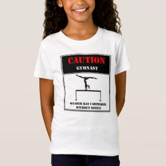 T-Shirt Précaution : Le porteur peut roue sans préavis