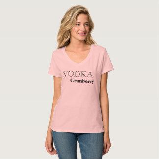T-shirt préféré de boissons de canneberge de vodka