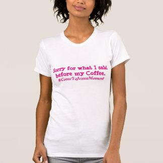 T-shirt Première pièce en t de café