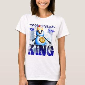 T-shirt Prend Bling pour être le Roi Spagetti-Courroie Top