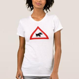 T-shirt Prenez garde de Warthogs, poteau de signalisation,