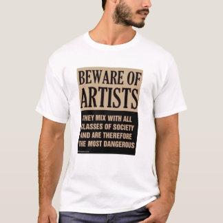 T-shirt Prenez garde des artistes