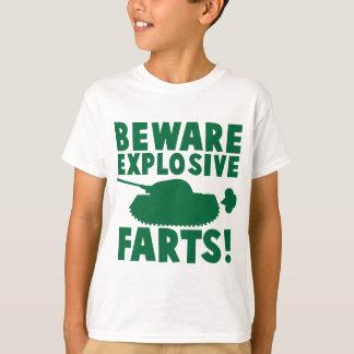 T-shirt Prenez garde des PETS EXPLOSIFS !