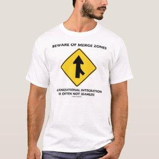 T-shirt Prenez garde des zones de fusion (l'humour de