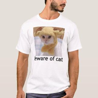 T-shirt Prenez garde du chat