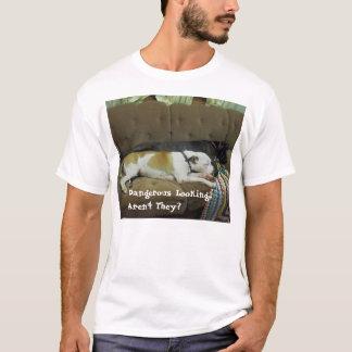 T-shirt Prenez garde du propriétaire, pas le chien