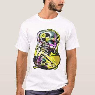 T-shirt Prenez garde du simulacre de câble de Tect