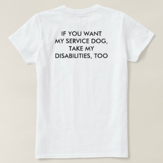 T-shirt Prenez mes incapacités