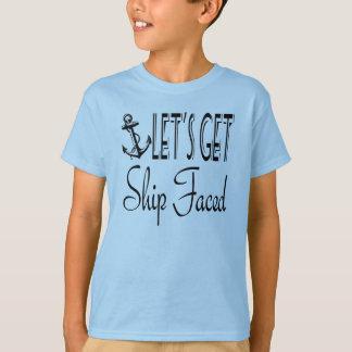 T-shirt Prenons le bateau fait face