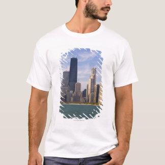 T-shirt Près de l'horizon du nord de ville et de la tour