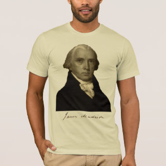 T-shirt président James Madison avec la signature