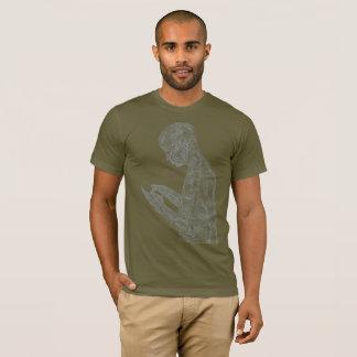 T-shirt Prière américaine (armée avec le gris)