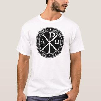 T-shirt Prière de Jésus avec Chi-RO noir et blanc en
