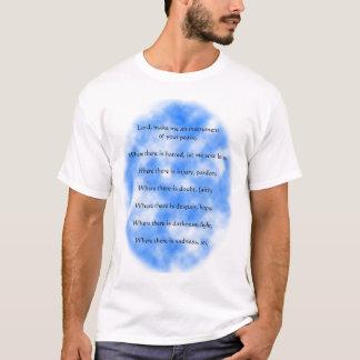 T-shirt Prière de St Francis d'Assisi