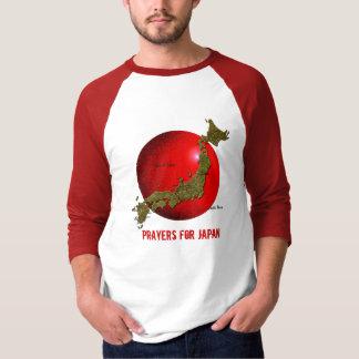 T-shirt Prières pour la chemise de soulagement de