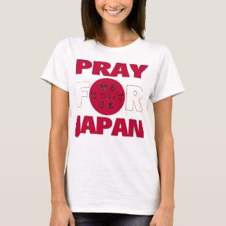 """T-shirt """"Priez chemise de soulagement de tsunami de"""
