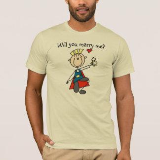 T-shirt Prince charme vous m'épouserez chemise