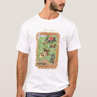 T-shirt Princes de Rajput chassant des ours ; un mahout et