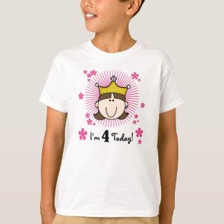 T-shirt Princesse 4ème anniversaire