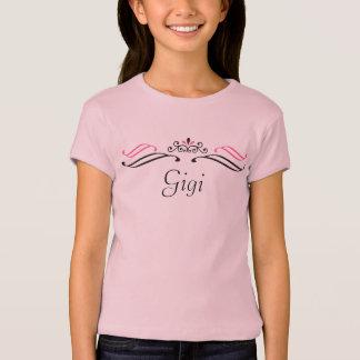 T-shirt Princesse de Gigi/T-shirt diadème de concours de