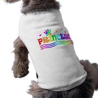 T-shirt Princesse mignonne Tiara d'arc-en-ciel de clipart