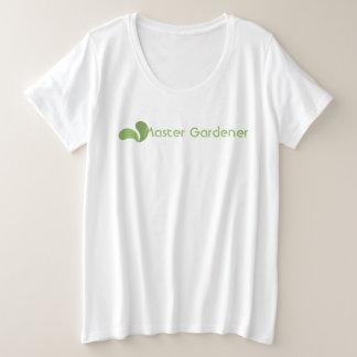 T-shirt principal vert de logo de jardinier d'Eco