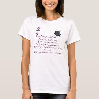 T-shirt Principes de Reiki juste pour aujourd'hui