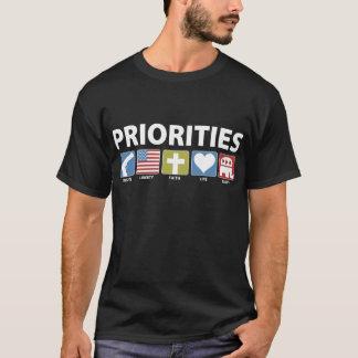 T-shirt Priorités de GOP