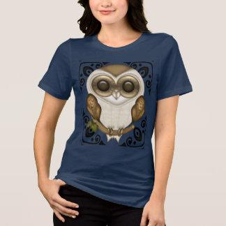 T-shirt Prise de bec la pièce en t décorative de hibou de