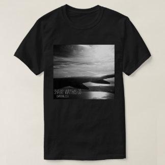 T-shirt Prise de la pièce en t d'image du vol B&W