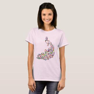 T-shirt prismatique coloré de nouveauté d'oiseau